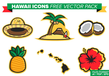 Hawaii Icons Free Vector Pack - Free vector #375829