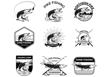 Free Pike Fishing Vectors - vector gratuit #375849