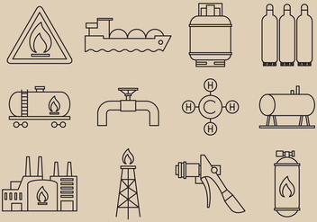 Gas Energy Icons - vector gratuit #376019