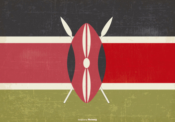 Vintage Flag of Kenya - vector gratuit #376039