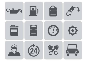 Free Gas Station Icons Vector - Free vector #376049
