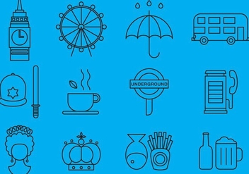United Kingdom Line Icons - Free vector #376119
