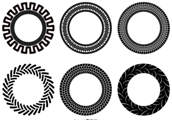Tractor Tire Shape Set - vector gratuit #376139