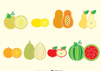 Fruits Collection Vector - Kostenloses vector #376309