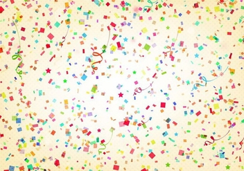 Free Vector Aniversario Background With Streamer And Confetti - Free vector #376369