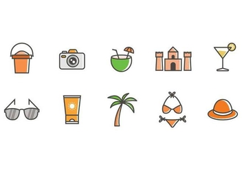 Free Beach Icons Vector - Free vector #376379