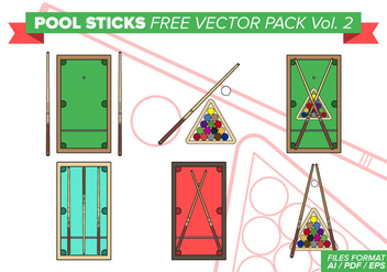 Pool Sticks Free Vector Pack Vol. 2 - Free vector #376499