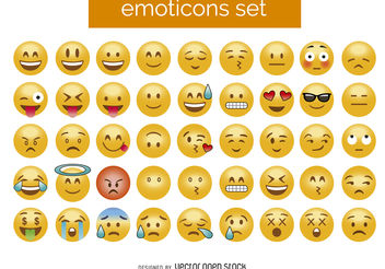 3D emoticon set - vector #376539 gratis