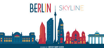 Berlin sykline illustration - vector gratuit #376559