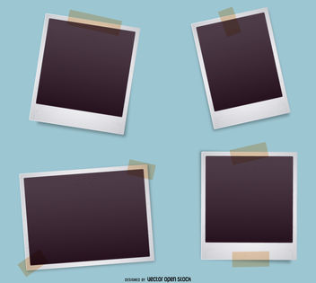 Polaroid frame set - vector #376659 gratis