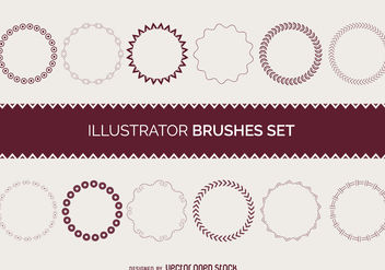 Illustrator brushes frame set - vector gratuit #376769