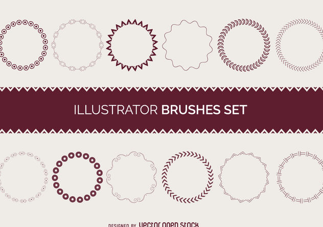 Illustrator brushes frame set - Kostenloses vector #376769