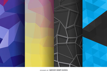 Polygonal background set - бесплатный vector #376849