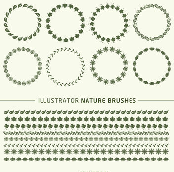 Illustrator brushes frame set - Kostenloses vector #376939