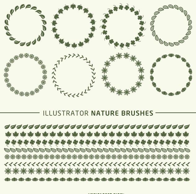 Illustrator Brushes Frame Set Free Vector Download 376939