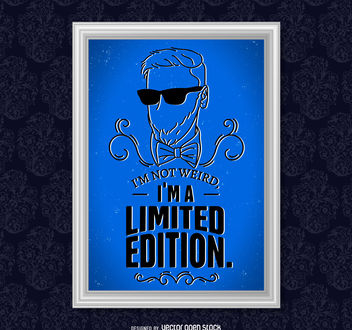 Limited edition quote poster - vector #377049 gratis
