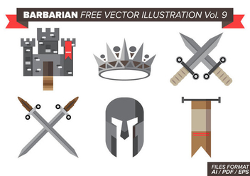 Barbarian Free Vector Illustrations Vol. 9 - vector gratuit #377149
