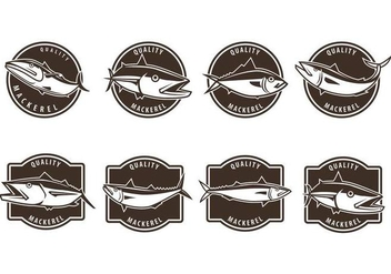 Free Mackerel Badge Vectors - Free vector #377179
