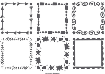 Hand Drawn Style Frame Set - Free vector #377189