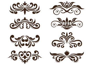 Set Of Cartouche Vector - Free vector #377369