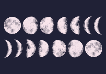 Vector Moon Phases - бесплатный vector #377399