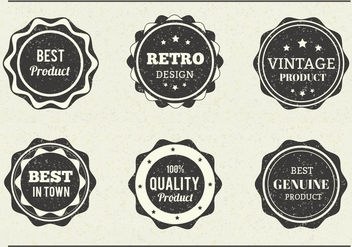 Free Vector Grungy Eroded Labels - vector gratuit #377409