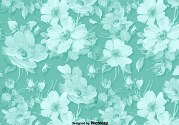 Classic Vector Floral Background - Free vector #377449