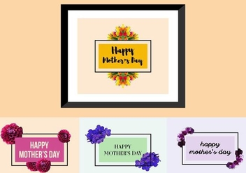Free Mother's Day Posters - vector gratuit #377459