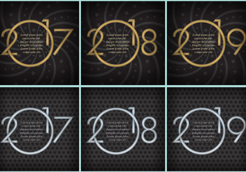 New Year Templates - бесплатный vector #377529