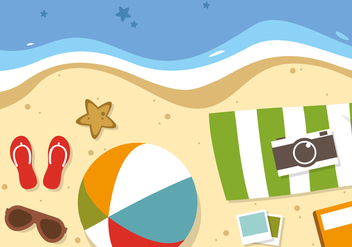 Free Flat Summer Travel Vector - бесплатный vector #377539