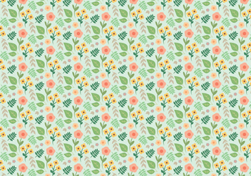 Plant Flower Pattern - vector #377669 gratis