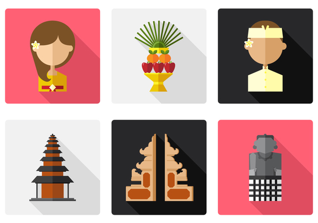 Vector Bali Icon Set - Free vector #377819