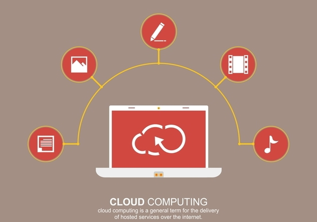 Cloud Computing Social Vector - бесплатный vector #377839