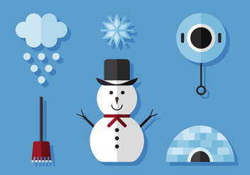 Vector Winter Icon Set - Kostenloses vector #377849