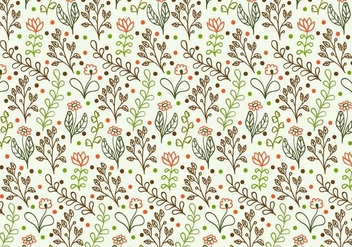 Free Vector Doodle Floral Background - Free vector #377869
