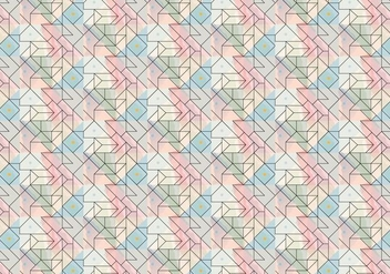 Geometric Outline Brush Pattern - Free vector #377919