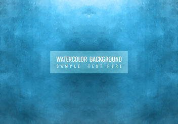 Free Vector Blue Watercolor Background - Kostenloses vector #377949