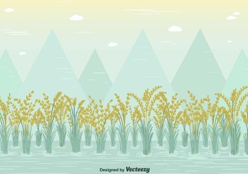 Free Rice Field Vector - бесплатный vector #377959