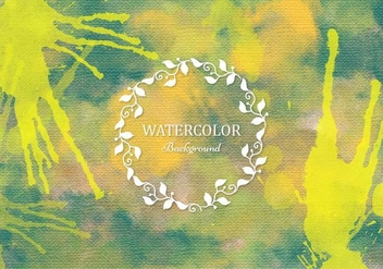 Free Vector Green Boho Watercolor Background - vector gratuit #377989