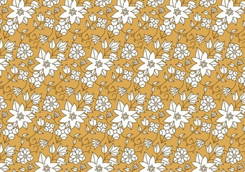 White Floral Pattern - Kostenloses vector #378029