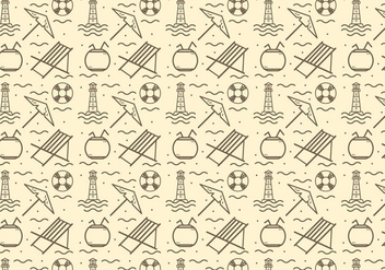 Free Beach Deck Chair Vector Pattern - бесплатный vector #378049