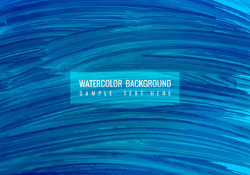 Free Vector Blue Watercolor background - vector gratuit #378109