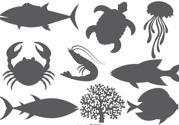 Sea Animal Vector Shapes - бесплатный vector #378119
