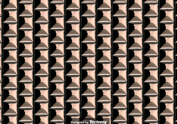 Seamless Pattern Of Bronze Metallic Tiles - vector #378169 gratis