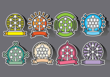 Atomium Badges and Icon Vectors - бесплатный vector #378219