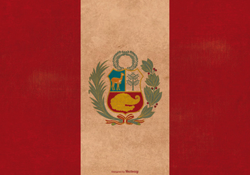 Vintage Grunge Flag of Peru - Free vector #378319