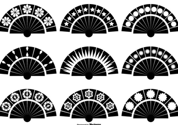 Spanish Fan Vector Shapes - бесплатный vector #378329