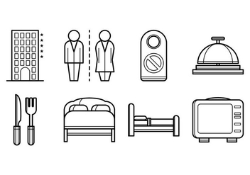 Free Hotel Stuff Icon Vector - Free vector #378369