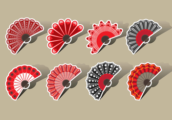 Spanish Fan Vector Icons - vector gratuit #378379