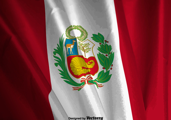 Realistic Vector Illustration Of The Peru Flag - Kostenloses vector #378419